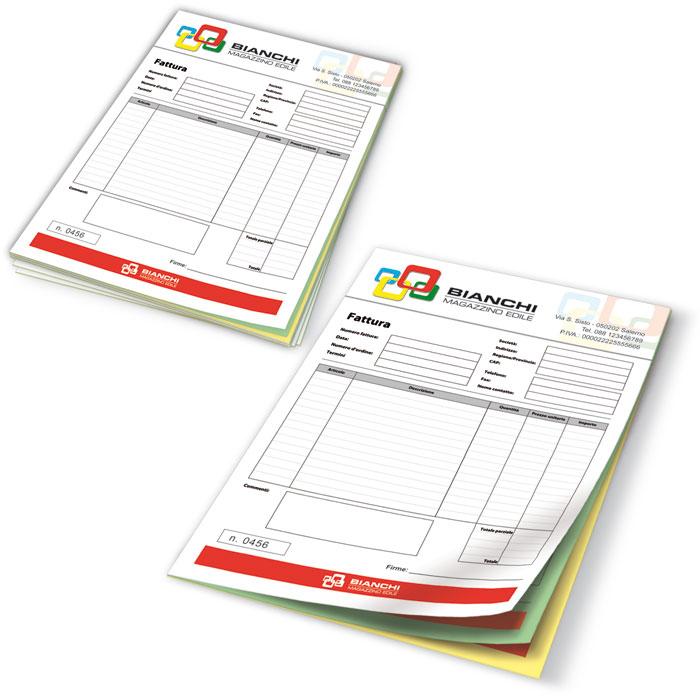 Fascicoli carta copiativa su misura