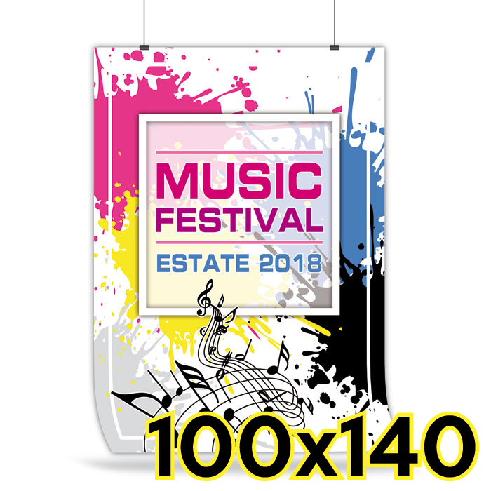 Manifesti 100x140 ( stampa offset da 50 pezzi )